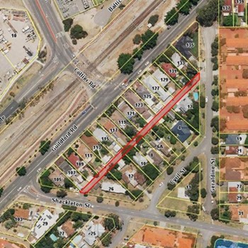 Invitation to comment - naming of Right Of Way running between Geraldine St and Shackleton St, Bassendean